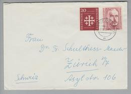DE BRD 1955-09-09 Brief Mit Mischfrankaturen Gleiche Wertstufe! - Lettres & Documents