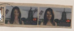 Nederland - 2010 - 2x 5 Zegel Carice Van Houten - Filmpostzegel - Gebruikt Op Papier - Period 1980-... (Beatrix)