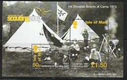 ILE De MAN - BLOC N° 65 ** (2007) Centenaire Du Scoutisme - Man (Ile De)
