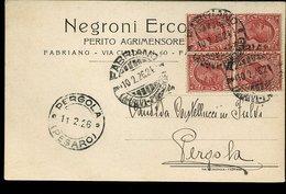 WC983 FABRIANO - COMMERCIALE NEGRONI ERCO?? PERITO AGRIMENSORE - Italia