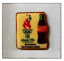 Pin's  Sports  J.O  ATLANTA  1996  Avec  Sponsor  Boisson  COCA - COLA - Olympic Games