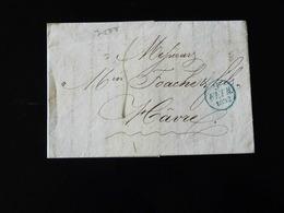 LETTRE POUR LE HAVRE PAR ESTAFETTE 1832 - Marcophilie (Lettres)