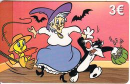 GREECE - Looney Tunes, Amimex Prepaid Card 3 Euro, Tirage 2000, Sample - Greece