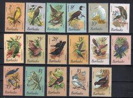 Barbados / Barbade 1979 Uccelli Yvert 472/88  ** MNH / VF - Barbados (1966-...)
