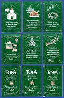 Tofa Cafés, Portugal 2018 - Descubra O Melhor Natal, 4,3 Gr. / Série Complète 6 Sachets Vides - Sucres