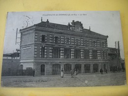 L11 5005 CPA ORIGINAL 1925 - 94 VILLENEUVE ST GEORGES. LA GARE - ANIMATION. - Gares - Sans Trains