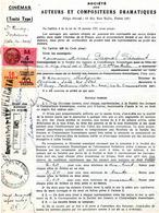"""Timbre Fiscal """"Série Unifiée"""" + """"Timbre De Dimension"""" Sur Document - Fiscaux"""