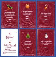 Christina Cafés, Portugal 2018 - Feliz Natal, 4,3 Gr. / Série Complète 5 Sachets Vides - Sucres