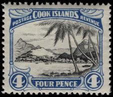 Cook Islands 1944-46 4d Port Of Avarua Lightly Mounted Mint. - Cook Islands