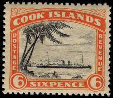 Cook Islands 1944-46 6d RMS Monowai Unmounted Mint. - Cook