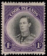 Cook Islands 1944-46 1s King George VI Unmounted Mint. - Cook Islands