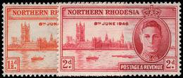 Northern Rhodesia 1946 Victory Unmounted Mint. - Northern Rhodesia (...-1963)