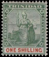 Trinidad 1896-1906 1s Green And Brown Lightly Mounted Mint. - Trinidad & Tobago (...-1961)