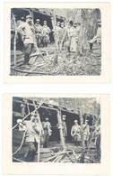 3 Photos Guerre 14 / 18 - Soldats, Militaires Sous Abri - Guerre, Militaire