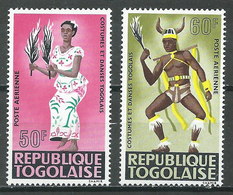 Togo Poste Aérienne YT N°59/60 Costumes Et Danses Neuf ** - Togo (1960-...)