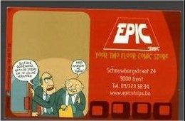 Kaart Stripwinkel EPIC - Books, Magazines, Comics