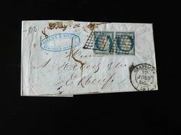 LETTRE DE GRANVILLE A ELBEUF  -  1850  - - Marcophilie (Lettres)