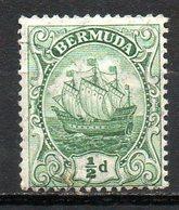 AMERIQUE DU NORD - BERMUDES - (Colonie Britannique) - 1910-20 - N° 39 - 1/2 P. Vert - (Grand Voilier) - Bermuda
