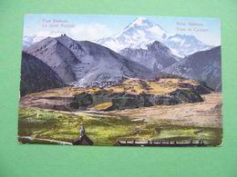 GEORGIA 1910x Mount KAZBEK And Settlement. Russian Postcard. - Géorgie