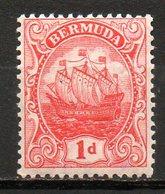 AMERIQUE DU NORD - BERMUDES - (Colonie Britannique) - 1910-20 - N° 40 - 1 P. Rouge - (Grand Voilier) - Bermuda