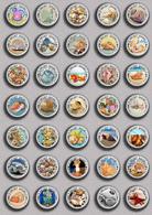 35 X Seashells Sea Shells  PIN's (1inch/25mm Diameter) SET 1 - Animals