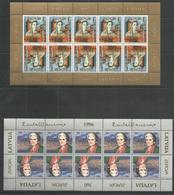 2 Pcs LATVIA - MNH - Europa-CEPT - Cultures - 1996 - 1997 - Europa-CEPT