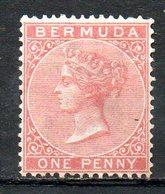 AMERIQUE DU NORD - BERMUDES - (Colonie Britannique) - 1865-73 - N° 1E - 1 P. Rose - (Victoria) - Bermuda