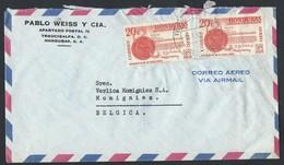 1HN.Simple Closed Air Letter. Post Office 1962 Tegucigalpa (Honduras) Momignies (Belgium) - Honduras