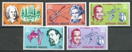 Togo YT N°531/535 UNESCO Grands Musiciens Neuf ** - Togo (1960-...)