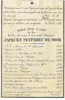 Doodsprentje E.H. DE MOOR Jacques - GEDEPORTEERD Naar Frankrijk - Pastoor SCHILDE En Overleden ANTWERPEN 1841 - Images Religieuses
