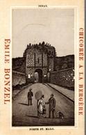 CHROMO  CHICOREE A LA BERGERE E. BONZEL HAUBOURDIN  DINAN PORTE DE SAINT-MALO - Kaufmanns- Und Zigarettenbilder