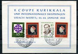 "Germany 1960 Sonderkarte Intern.Skispringen Mit Mi.Nr.307 U.SST""Urach-9.Coupe Kurillala U.Intern.Skispringen""1 Karte - Ski"