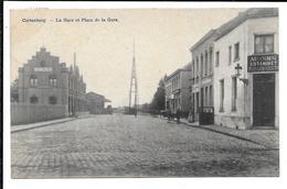 CORTENBERG La Gare Et Place De La Gare / Statie En Statieplein Estaminet F. Hasaerts - Kortenberg