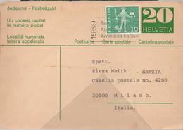 Cartolina Postale Svizzera Concorso Grazia - Storia Postale