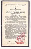 DP August Van Der Moere ° Zomergem 1844 † Baarle Drongen Gent 1924 X Maria Pille - Images Religieuses
