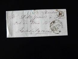 LETTRE DE FORGES POUR PAU -  1845  - - 1801-1848: Précurseurs XIX