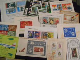 Collection , 13 Blocs Obliteres - Timbres