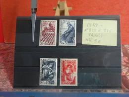Série Des Métiers - N°823 à 826 (4val) (1949) - Coté 5€ - France