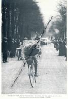CYCLISME : PHOTO (1920), PARIS-ROUBAIX, L'ATTAQUE D'EUGENE CHRISTOPHE QUI FINIRA DEUXIEME, COUPURE LIVR - Cyclisme