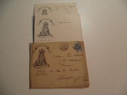 Enveloppe, Entête,Taverne F POUSSE, Bd Des Italiens,Paris 1899 - Vieux Papiers