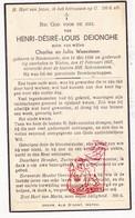 DP Henri D. DeJonghe / Weexsteen ° Steenvoorde FR Nord 1856 † Watou Poperinge 1937 - Images Religieuses