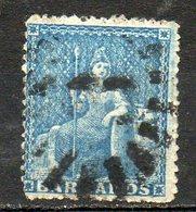 AMERIQUE CENTRALE - BARBADE - (Colonie Britannique) - 1861 - N° 9 - 1 P. Bleu - (Britannia) - Antilles