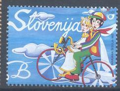 Slovenia Slovenie Slowenien 2001 Mint MNH **: Bicycle; Fahrrad; Bike; Valentine's Love Stamp Lovers On Bike - Radsport