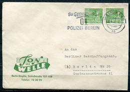 "Germany,Berlin 1952 Bedarfsbrief/Cover M.Mi.49.u.Polizei-Gendarm MWST.""Berlin SW 11-Bei Gefahr 01 Polizei Berlin""1 Beleg - Polizei - Gendarmerie"