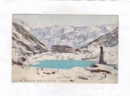 CPA : 14 X 9  -  J. J. 3993   -  Hospice Du Grand St. Bernard  -  Première Neige - VS Valais