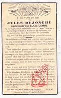 DP Jules DeJonghe ° Steenvoorde FR Nord 1858 † Watou Poperinge 1938 X Lucie Demol - Images Religieuses