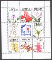 Liberia 1995 Mi# 1631-38** ORCHIDS - Liberia