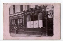 LIBOURNE - 33 - Gironde - RARE CARTE PHOTO - Devanture - Imprimerie HENRY GUILLIER - Libourne