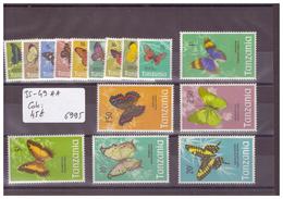 TANZANIA - No MICHEL 35-49 ** ( SANS CHARNIERE )  - !!! WARNING: NO PAYPAL!!! - COTE: 45 € - Tanzania (1964-...)