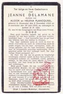 DP Jeanne Delamane / Plancqueel ° Dranouter 1923 † 1935 / Heuvelland - Images Religieuses